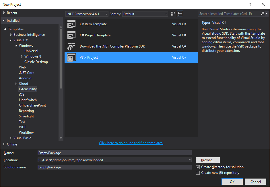 VSXReloaded— Part #2: Creating an Empty Visual Studio Package ...